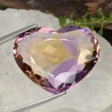 thumb image of 19.1ct Heart Facet Bi-Color Ametrine (ID: 470360)