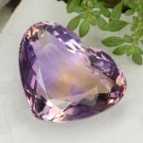 thumb image of 19.8ct Heart Facet Bi-Color Ametrine (ID: 470364)