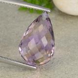 thumb image of 8.6ct Briolette with Hole Bi-Color Ametrine (ID: 484365)
