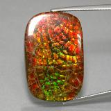 thumb image of 31.3ct Cushion Cabochon Multicolor Ammolite (ID: 377630)
