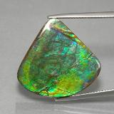 thumb image of 19.8ct Fancy Cabochon Multicolor Ammolite (ID: 377631)
