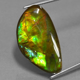 thumb image of 14ct Fancy Cabochon Multicolor Ammolite (ID: 451522)