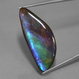 thumb image of 21.3ct Fancy Cabochon Multicolor Ammolite (ID: 451537)