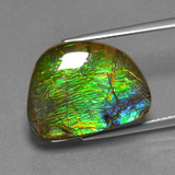 thumb image of 12.4ct Fancy Cabochon Multicolor Ammolite (ID: 452651)