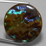 thumb image of 27.2ct Round Cabochon Multicolor Ammolite (ID: 452679)