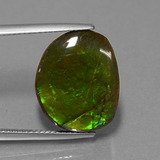 thumb image of 10.6ct Fancy Cabochon Multicolor Ammolite (ID: 452690)