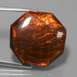 thumb image of 19.2ct Octagon Cabochon Multicolor Ammolite (ID: 452771)