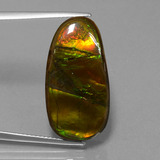 thumb image of 15.3ct Fancy Cabochon Multicolor Ammolite (ID: 452848)