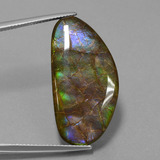 thumb image of 26.2ct Fancy Cabochon Multicolor Ammolite (ID: 452918)