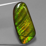 thumb image of 25.9ct Fancy Cabochon Multicolor Ammolite (ID: 453560)
