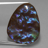 thumb image of 20.1ct Fancy Cabochon Multicolor Ammolite (ID: 453566)