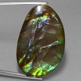 thumb image of 27.7ct Fancy Cabochon Multicolor Ammolite (ID: 453598)