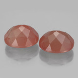 3.92 ct Oval Facet Honey Red Andesine Labradorite Gem 11.16 mm x 9.1 mm (Photo C)