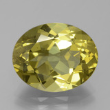 thumb image of 8.3ct Oval Facet Greenish Golden Apatite (ID: 384551)