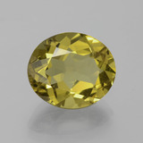 6.65 ct Oval Facet Golden Green Apatite Gem 13.09 mm x 11.1 mm (Photo B)