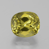 thumb image of 7.3ct Cushion-Cut Golden Green Apatite (ID: 385924)