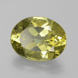 7.34 ct Oval Facet Medium Yellow Apatite Gem 14.70 mm x 11.6 mm (Photo B)