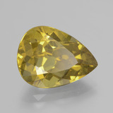 8.02 ct Pear Facet Golden Apatite Gem 15.52 mm x 11.6 mm (Photo B)