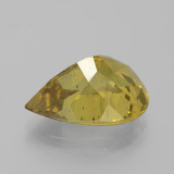 8.02 ct Pear Facet Golden Apatite Gem 15.52 mm x 11.6 mm (Photo C)