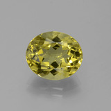 thumb image of 4.2ct Oval Facet Golden Green Apatite (ID: 387566)