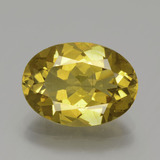 thumb image of 5.2ct Oval Facet Greenish Golden Apatite (ID: 387570)