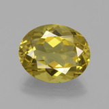 thumb image of 6ct Oval Facet Greenish Golden Apatite (ID: 391070)