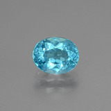 thumb image of 1.3ct Oval Facet Blue Apatite (ID: 393269)