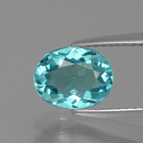 thumb image of 1.3ct Oval Facet Green Blue Apatite (ID: 393464)