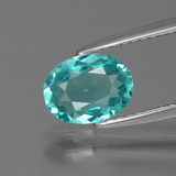 thumb image of 1.1ct Oval Facet Green Apatite (ID: 393544)