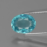 thumb image of 1.1ct Oval Facet Blue Apatite (ID: 393546)