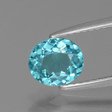 thumb image of 1ct Oval Facet Blue Apatite (ID: 393636)