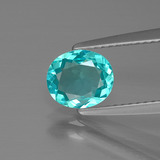 thumb image of 0.9ct Oval Facet Green Blue Apatite (ID: 393777)