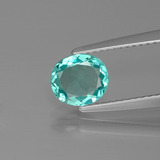 thumb image of 0.8ct Oval Facet Green Blue Apatite (ID: 393810)
