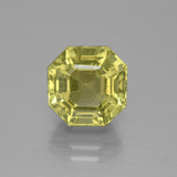 thumb image of 5.9ct Asscher Cut Golden Green Apatite (ID: 395808)