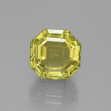 thumb image of 7.5ct Asscher Cut Greenish Golden Apatite (ID: 395810)