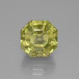 thumb image of 7.6ct Asscher Cut Golden Green Apatite (ID: 395812)