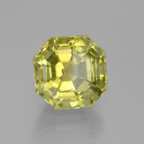 9.32 ct Asscher Cut Medium Yellow Apatite Gem 11.55 mm x 11.4 mm (Photo B)