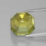 9.32 ct Asscher Cut Medium Yellow Apatite Gem 11.55 mm x 11.4 mm (Photo C)
