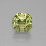 thumb image of 5.5ct Asscher Cut Golden Green Apatite (ID: 395819)