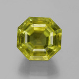 thumb image of 15.2ct Asscher Cut Greenish Golden Apatite (ID: 396053)