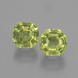 thumb image of 7.5ct Asscher Cut Golden Green Apatite (ID: 396122)