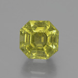 thumb image of 6.3ct Asscher Cut Golden Green Apatite (ID: 396125)