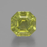 thumb image of 6.2ct Asscher Cut Golden Green Apatite (ID: 396131)