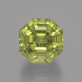 thumb image of 7.6ct Asscher Cut Golden Green Apatite (ID: 396132)