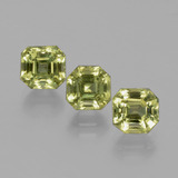 thumb image of 4.2ct Asscher Cut Golden Green Apatite (ID: 396305)