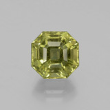 thumb image of 4ct Asscher Cut Golden Green Apatite (ID: 396310)