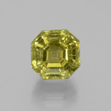 thumb image of 5.1ct Asscher Cut Golden Green Apatite (ID: 396313)