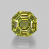 thumb image of 14ct Asscher Cut Golden Green Apatite (ID: 396315)