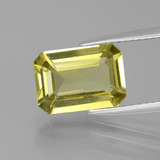 thumb image of 3ct Octagon Facet Golden Green Apatite (ID: 398281)