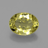 thumb image of 3.5ct Oval Facet Green Yellow Apatite (ID: 398358)